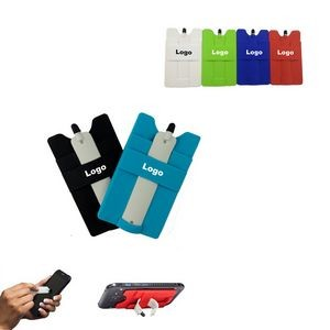 Multifunction Silicone Cellphone Wallet With Stylus Stand